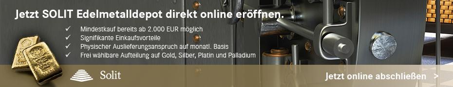 SOLIT Edelmetalldepot jetzt online eröffnen